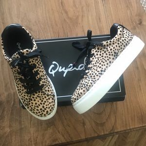 Qupid leopard sneaker Worn Once 8.5